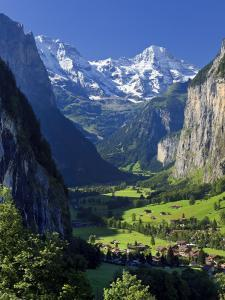 Switzerland, Bernese Oberland, Lauterbrunnen Town and Valley by Michele Falzone