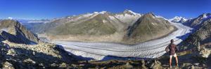 Switzerland, Valais, Jungfrau Region, Aletsch Glacier from Mt; Eggishorn (Unesco Site) by Michele Falzone