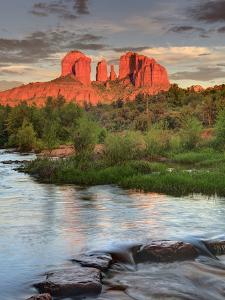 USA, Arizona, Sedona, Cathedral Rock Glowing at Sunset by Michele Falzone