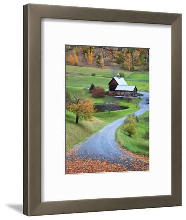 USA, New England, Vermont, Woodstock, Sleepy Hollow Farm in Autumn/Fall