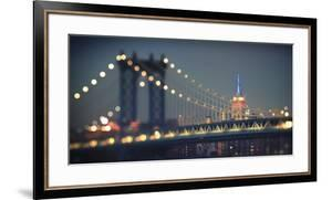 Usa, New York City, Manhattan Bridge and Empire State Building by Michele Falzone