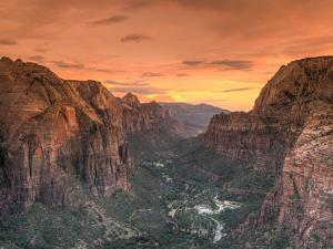 USA, Utah, Zion National Park, Zion Canyon from Angel's Landing by Michele Falzone