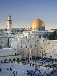 Western Wall and Dome of the Rock Mosque, Jerusalem, Israel by Michele Falzone