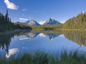 Whirlpool Peak, Mt. Fryatt and Leech Lake, Jasper National Park, Alberta, Canada by Michele Falzone