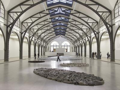 Berlin Circle by Richard Long with Ellipse of Stones, Hamburger Bahnhof Museum, Berlin, Germany