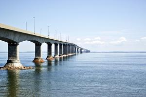 Canada, New Brunswick. Confederation Bridge along the Trans-Canada Highway by Michele Molinari
