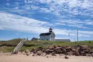 Canada, Prince Edward Island. Cousin's Shore Beach, lighthouse by Michele Molinari