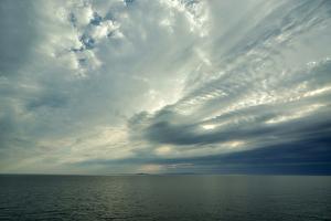 Canada, Quebec, Iles-de-la-Madeleine. Open sea, view of Ile d'Entree by Michele Molinari