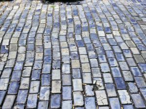 Cobblestone Street, Small Stone as Ballast on Spaniards Galleons, Puerto Rico by Michele Molinari