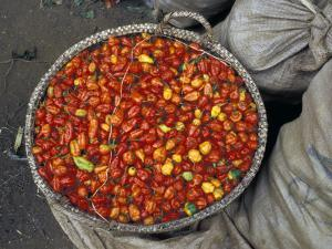 Hot Red Pepper at the Local Market, Madagascar by Michele Molinari
