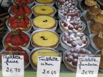 Pastries in Shop Window, Paris, France