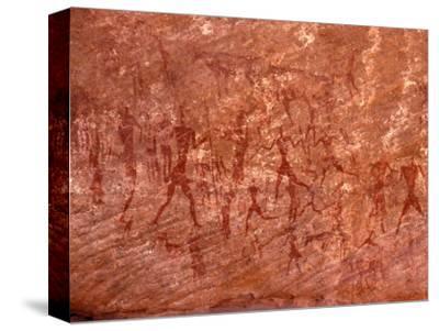 Rock Painting of Hunting Scene, Sahara