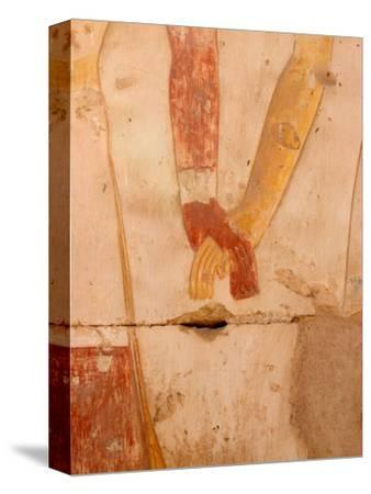 Wall Painting of Figures Holding Hands, Egypt