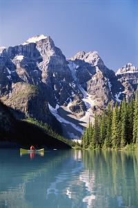 Canada, Alberta, Moraine Lake at Banff National Park by Michele Westmorland