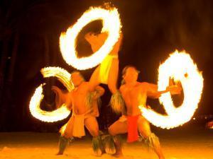Fire Dance at Bora Bora Nui Resort and Spa, Bora Bora, Society Islands, French Polynesia by Michele Westmorland
