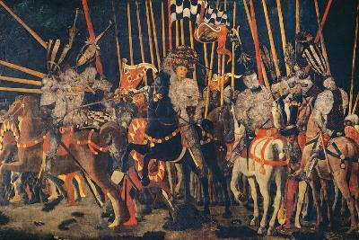 Micheletto Da Cotignola Engages in Battle (the Battle of San Romano)-Paolo di Dono (Uccello)-Giclee Print