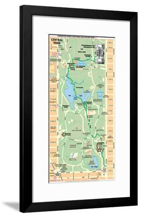 Michelin Official Central Park Map Poster