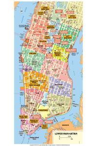 Michelin Official Lower Manhattan NYC Map Poster