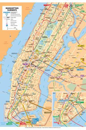 Michelin Official Manhattan Subways Map Poster