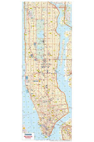 Michelin Official New York City Road Map Poster--Poster