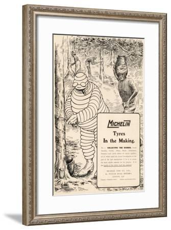 Michelin Tyre Advert--Framed Giclee Print