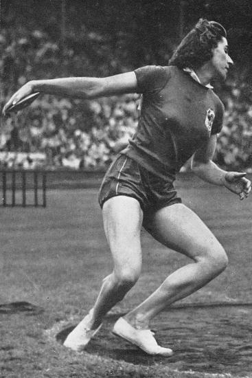 Micheline Ostermeyer on Her Way to Winning the Gold Medal for the Discus Throw at the 1948 London?--Photographic Print