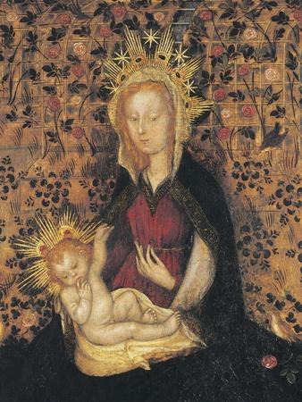 Virgin and Child, Detail from Madonna of Rose Garden