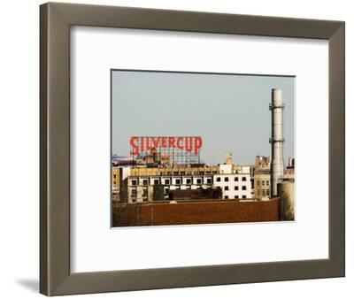 Silvercup Studios Sign, Chimney Stack and Buildings in Queens