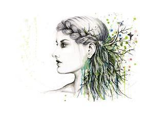 Forest Lover Girl Portrait by Michelle Faber