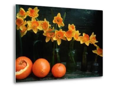 Arrangement of Daffodils and Oranges