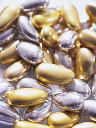 Gold and Silver Sugared Almonds by Michelle Garrett