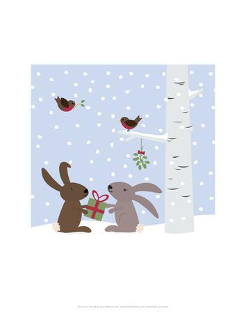 Rabbits in the Snow - Wink Designs Contemporary Print