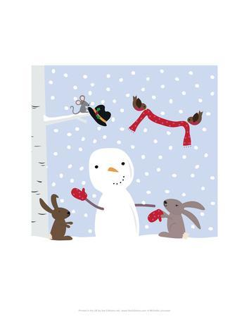 Snowman and Friends - Wink Designs Contemporary Print