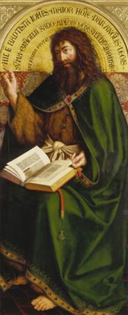 John the Baptist. Copy after Van Eyck (Ghent Altarpiece) by Michiel Coxcie