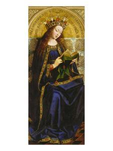 Virgin Mary. Copy after Van Eyck (Ghent Altarpiece) by Michiel Coxcie