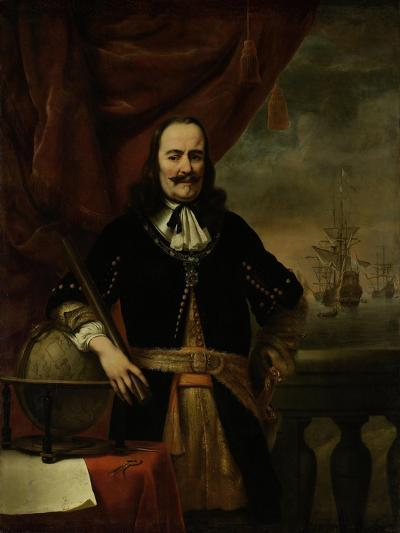Michiel De Ruyter as Lieutenant-Admiral, 1667-Ferdinand Bol-Giclee Print