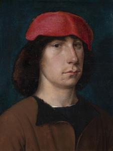 A Young Man in a Red Cap, C.1512 (Oil on Oak Panel) by Michiel Sittow