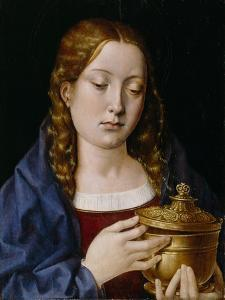 Catherine of Aragon as the Magdalene (Oil on Oak Panel) by Michiel Sittow