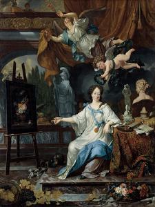 Allegorical Portrait of an Artist in Her Studio, c.1675-1685 by Michiel Van Musscher
