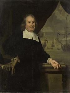 Portrait of a Captain or Ship-Owner by Michiel Van Musscher