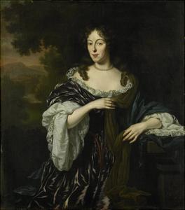 Portrait of Maria Schaep, Wife of Hendrick Bicker by Michiel Van Musscher