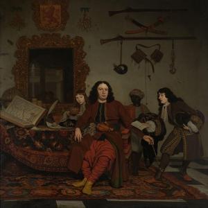 Thomas Hees with His Nephews by Michiel Van Musscher