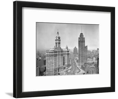 Michigan Avenue View in Chicago, Ca. 1925