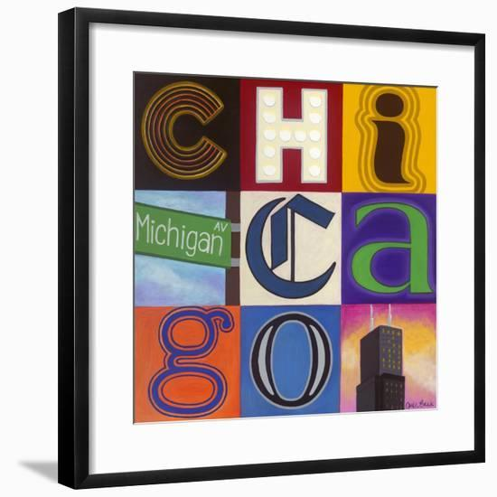 Michigan Avenue-Carla Bank-Framed Giclee Print