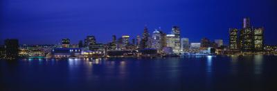 Michigan, Detroit, Night
