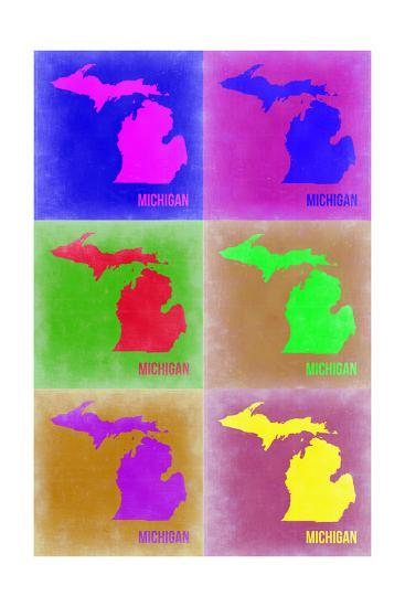 Michigan Pop Art Map 2-NaxArt-Photo