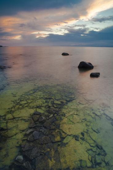 Michigan. Sunset at Fisherman's Island State Park on Lake Michigan-Judith Zimmerman-Photographic Print