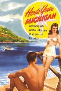 Michigan Travel Poster