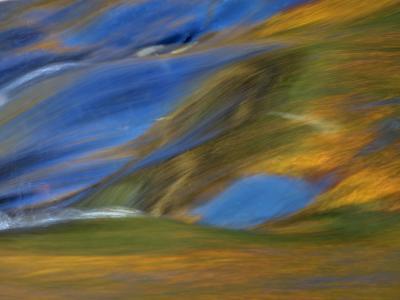 Michigan. Trees Reflect in Cascade Above Bond Falls, Ontonagon River-Julie Eggers-Photographic Print