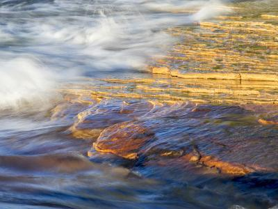 Michigan, Upper Peninsula. Sandstone on the Shore of Lake Superior-Julie Eggers-Photographic Print